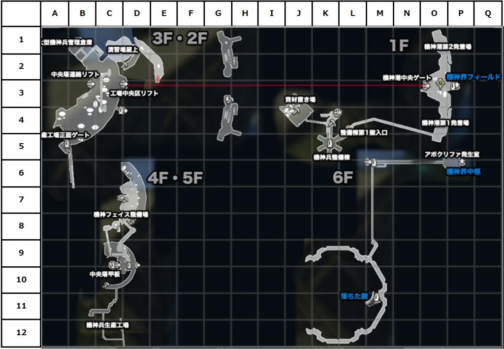 中央工廠マップ(座標付き)