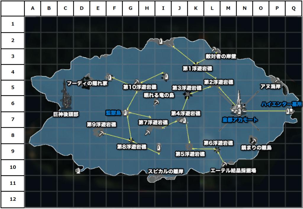 エルト海マップ(座標付き)
